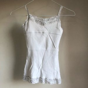 Justice brand girls cami with lace and shelf bra.
